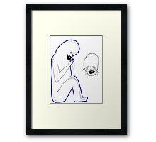 don't look at me please poster Framed Print