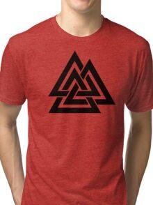 Walknut / Valknut - Wotan's Knot / Odins Knot Tri-blend T-Shirt