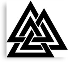 Walknut / Valknut - Wotan's Knot / Odins Knot Canvas Print
