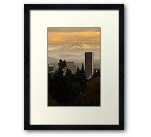 The best Hood in Portland Framed Print