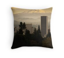 The best Hood in Portland Throw Pillow