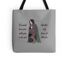 Into the Very Fires of Mordor Tote Bag