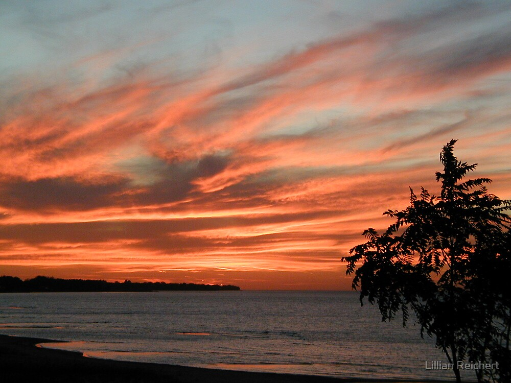 Sunset over Lake Huron by Lillian Reichert