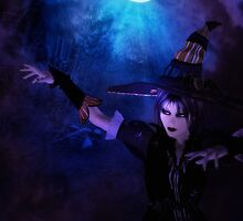Mystic Night and Witch by AnnArtshock