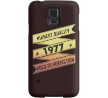 Highest Quality 1977 Aged To Perfection Samsung Galaxy Case/Skin