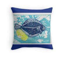 Lemon Sole Throw Pillow