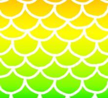 Fish Scales Rainbow Sticker