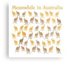 Meanwhile in AUSTRALIA with many kangaroos Metal Print