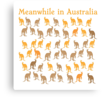 Meanwhile in AUSTRALIA with many kangaroos Canvas Print