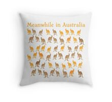 Meanwhile in AUSTRALIA with many kangaroos Throw Pillow