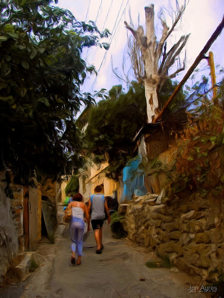 From my villa into Yalta by Jon Ayres