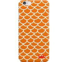 Fish scales orange iPhone Case/Skin
