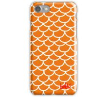 Fish scales orange iPhone Case/Skin