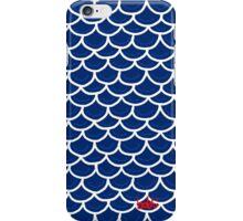 Fish scales blue iPhone Case/Skin