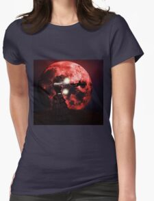 Red moon 2 Womens Fitted T-Shirt