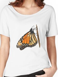 Monarch Butterfly closeup on a twig II Women's Relaxed Fit T-Shirt