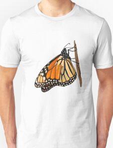 Monarch Butterfly closeup on a twig II T-Shirt