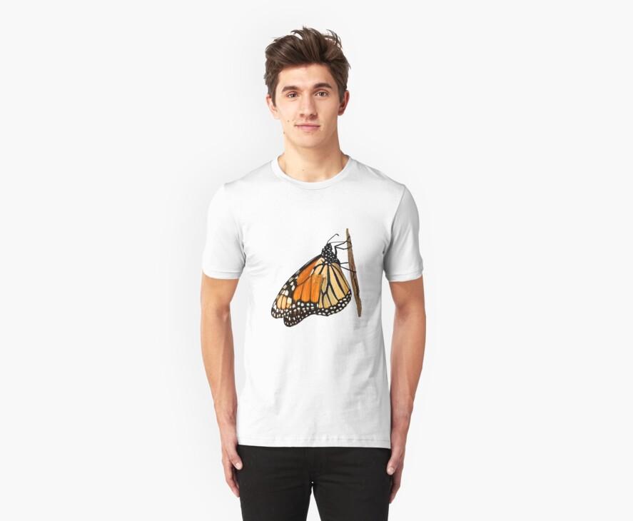 Monarch Butterfly closeup on a twig II by Eyal Nahmias