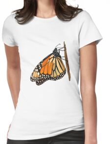 Monarch Butterfly closeup on a twig II Womens Fitted T-Shirt