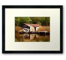 The Sink, Near Hertford North Carolina Framed Print