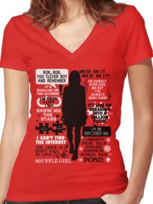 Doctor Who - Clara (Oswin) Oswald Quotes Women's Fitted V-Neck T-Shirt