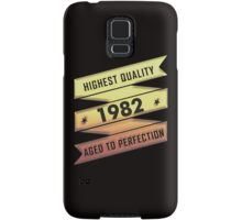 Highest Quality 1981 Aged To Perfection Samsung Galaxy Case/Skin