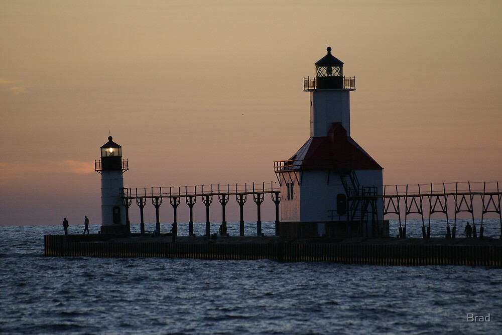 Twilight Lighthouse by Brad