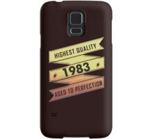 Highest Quality 1983 Aged To Perfection Samsung Galaxy Case/Skin
