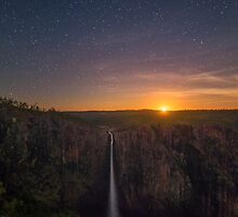 Moonrise at Wallaman Falls by PhotoByTrace