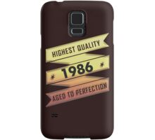 Highest Quality 1986 Aged To Perfection Samsung Galaxy Case/Skin