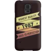 Highest Quality 1987 Aged To Perfection Samsung Galaxy Case/Skin