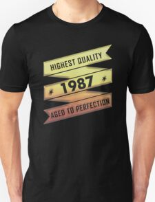 Highest Quality 1987 Aged To Perfection T-Shirt
