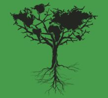 Earth tree *dark green edition Kids Clothes
