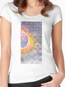 Lotus Brains Women's Fitted Scoop T-Shirt