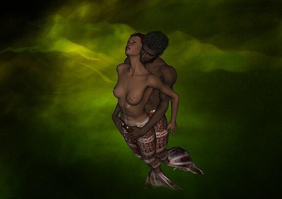 Space Mermaid Lovers by InfinityRain