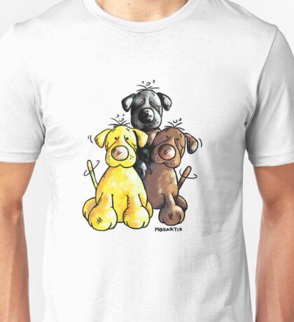 Three cute Labradors Unisex T-Shirt
