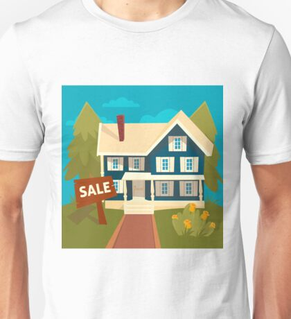 Real Estate Banner. House for Sale Unisex T-Shirt