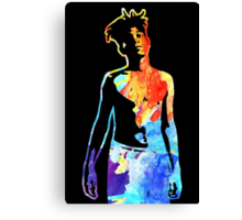 Jean-Michel Basquiat Splatter  Canvas Print