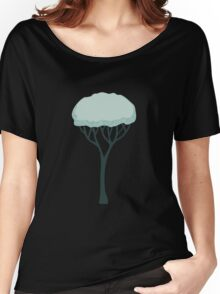 Glitch Substrata foreground tree snow Women's Relaxed Fit T-Shirt
