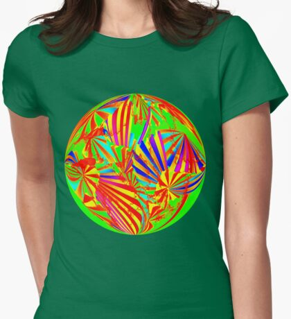 Round Wow Man It's The 60's Ts Womens Fitted T-Shirt