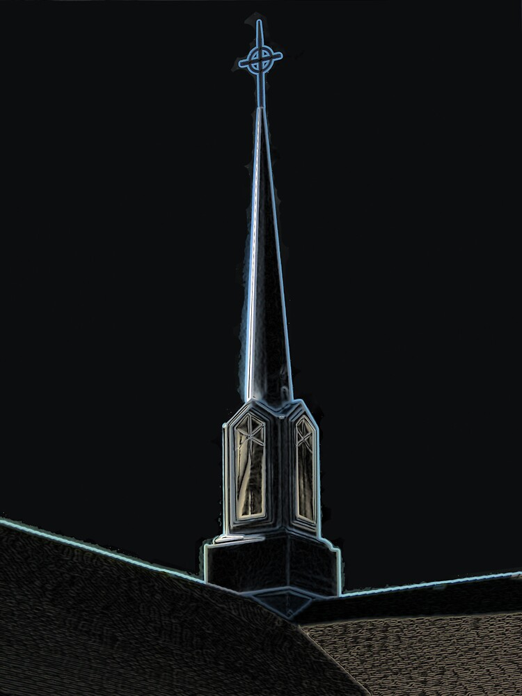 Steeple in Black by Wendy J. St. Christopher