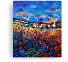 gendron blue poppies  Canvas Print