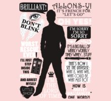 Doctor Who - 10th Doctor Quotes Kids Clothes