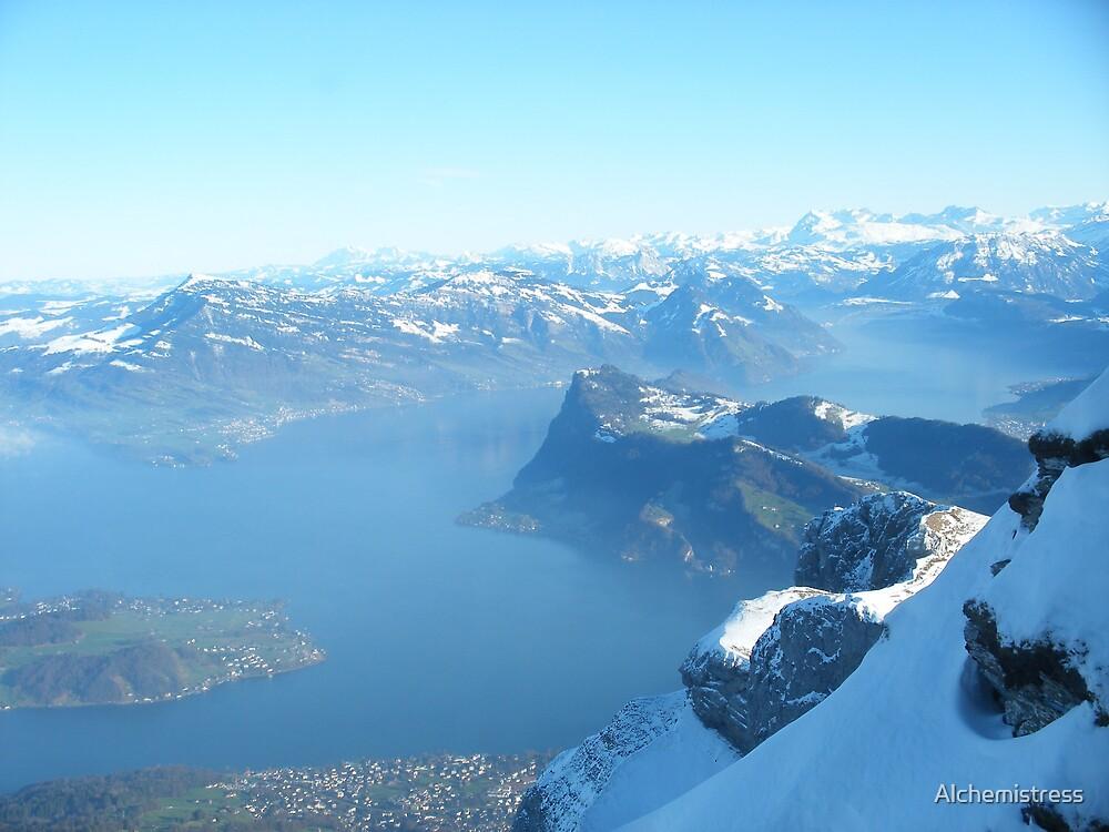 Swiss Mountains by Alchemistress
