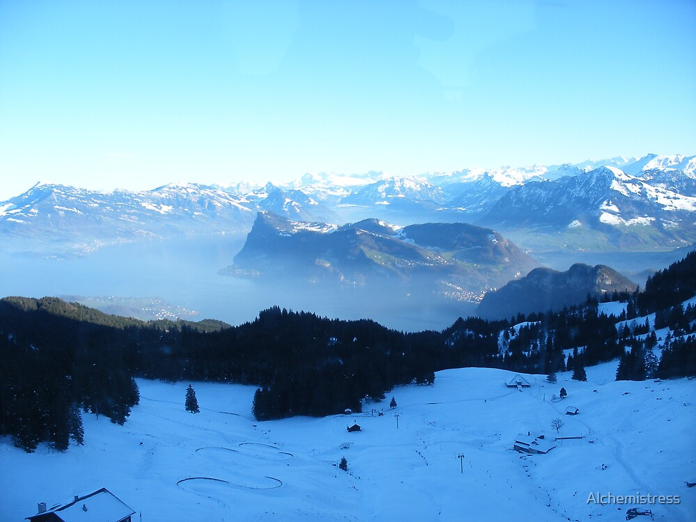 Lovely Swiss Landscape by Alchemistress