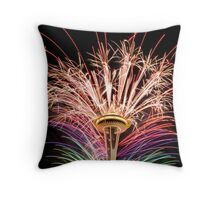 Happy New Year Seattle Throw Pillow