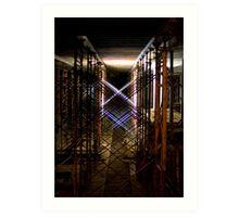 lattice in light Art Print