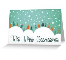 Snowy Hill Christmas Card - Tis The Season Greeting Card