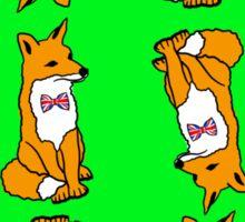 British Fox Pattern Sticker