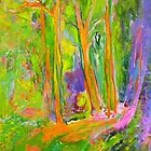 Impressionist Magpie in the Forest by Susan Wellington